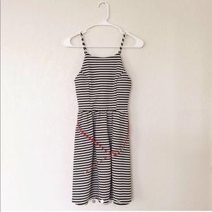 (2 for $20) Black & White Striped Dress